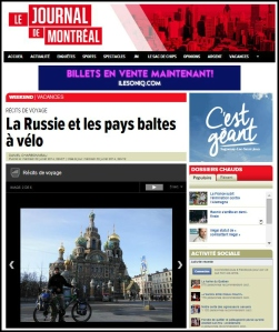 journal de montreal russie a velo 2014